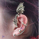 Hot Sell Gothic Punk Rock Temptation Bronze Dragon Bite Ear Cuff Clip Earring