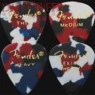 12 Fender Classic Celluloid Guitar Picks Confetti - Thin, Med, Heavy or X Heavy