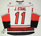 JORDAN STAAL CAROLINA HURRICANES REEBOK PREMIER AWAY JERSEY NEW WITH TAGS