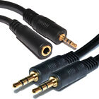 3.5mm Stereo Jack to Jack - 3.5mm Stero Jack to Socket Plug Audio Gold Cable