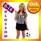 F66 Ladies Sports Referee Umpire Football Soccer Fancy Dress Up Party Costume