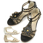 New Womens Low Heels Fashion Summer Ankle Strap Sandle Shoes Multi Colored