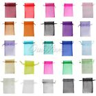 """100 Strong Organza Pouch 3.5x4.7"""" 9x12cm Wedding Favor Gift Candy Bag Colors"""