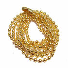 """Necklace Ball Chain with Connector Goldtone Gold plated 16"""" to 26"""", 1 or 5 Qty"""