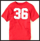 "NWT Childrens Place Boys RED TEES LOGO ""36"" DESIGN RED Graphic T-shirt XS-L"