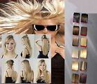 "16"" 40cm 100% Real Human Hair Extensions one piece 5 Clips 1pc 100g ++"