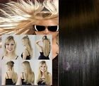 "20"" 50cm 100% Real Human Hair Extensions one piece 5 Clips 1pc 100g**"