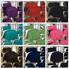 4 PCS COMPLETE REVERSIBLE DUVET COVER & FITTED SHEET BED SET SINGLE,DOUBLE,KING