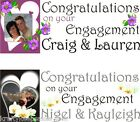 Hearts Flowers Engagement Banner Personalised + photo 1-5m Krafty Keepsakes