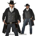 C246 Western Cowboy Gunfighter Gunslinger Fancy Dress Men Adult Costume