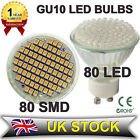 12X GU10/MR16 80 SMD/LED WIDE ANGLE DAY/WARM WHITE LED BULBS BULB LIGHT