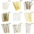 Free Ship New Fashion 100pcs Gold Silver Head/Eye/Ball Pins Finding 21 Gauge