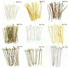 Внешний вид - Wholesale Gold Silver Head/Eye/Ball Pins Finding 21/24 Gauge 100pcs Free Ship