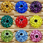10Pcs Quality Clay Round Crystal Glass Spacer Beads Many Color To Choose