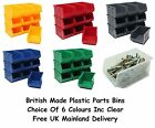 NEW Quality British Made Plastic Parts Storage Bins 10 x Size 3 - Colour Choice