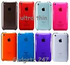Ultra Thin Crystal Clear Hard Back Case Cover For Fits Apple iPhone 3 3G 3GS