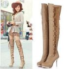 Fashion Women's High Heel Zip Thigh Boots Shoes  sexy over the knee boots