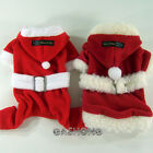 Dog&Cat Clothes X-mas Coats Thick Fleece Santa Claus Costume Jersey_DE22