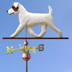 Jack Russell Terrier Rough Custom Wooden Hand Carved Weathervane.Home,Barn-Roof