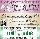 Personalised Banner Wedding Day Just Married various designs colours 1-4m paper
