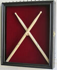 Display Case Shadow Box for 2 Drum Sticks Display Cabinet with Door : CD22 -