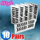 10 Pairs 6 Style Black Thick Volume False Eye Lash Eyelashes Makeup Cosmetic
