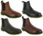 Leather Brogue Chelsea Derby Oaktrak Dealer Slip On Mens Boots Size 6-12 UK