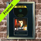 JUSTIN BIEBER Believe FRAMED AUTOGRAPH CD Reproduction Signed Print A4 Size (14)
