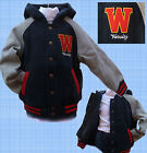 BASEBALL JACKET Lined WINTER VARSITY BLUE KIDS BOYS GIRLS TEEN AGE 3-13 YRS NEW