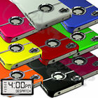 NEW STYLISH CHROME SERIES HARD CASE COVER FITS IPHONE 5 5G FREE SCREEN PROTECTOR