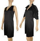 $1,375 BALENCIAGA DRESS WITH CAPELET / SHRUG BLACK PERFECT LBD
