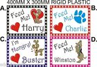 Personalised DOG PET feeding mat slip resistant feet sizes A4 OR A3 HIGH QUALITY