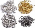 New 500pcs Golden/Black Tube Crimp End Beads 2mm For Necklace Accessories