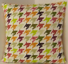 NEW SINGLE CUSHION COVERS GREEN ORANGE PURPLE DOG TOOTH PATTERN RETRO 60s STYLE