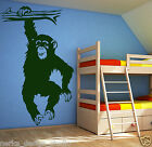 HUGE FUNNY MONKEY wall sticker / kids room wall sticker / nursery  WALL ART S15