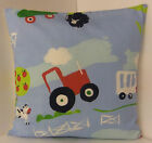 NEW SINGLE CUSHION COVERS NURSERY CHILDRENS PLAY ROOM BRIGHT MULTI COLOURED