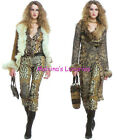1.5K AUTHENTIC WILD ROBERTO CAVALLI dress JEANS PANTS with LEATHER