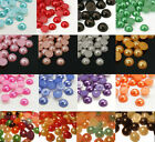 Lots 2/3/4/5/6/7/8mm Half Round Bead Flat Back Acrylic Pearl Scrapbooking Craft