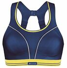 Shock Absorber Sports Bra Top (B5044) LIMITED EDITION Navy Blue & Yellow
