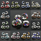 Wholesale Multi-Colored Crystal Spacers European Beads Fit Charm Bracelet 10x4mm