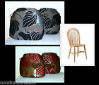 x4 PACK - ZIPPY LUXURY SPINDLE DINING CHAIR CUSHIONS - LILY DESIGN - SEAT PADS