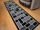 Very Long Narrow Small Black Grey Hall Floor Carpets Runners Rug Rugs Mat Mats