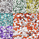 2mm Faceted Rhinestone Flat Back Round DIY Craft Favour Decor Upick 30 Colours