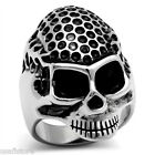 Mens Big Skull Head Stainless Steel Ring