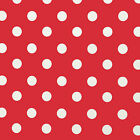 RED & WHITE POLKA DOT PVC VINYL WIPE CLEAN TABLECLOTH FREE P&P & FREE SAMPLE