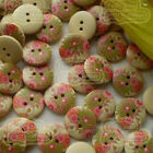 15mm Wood Buttons Sewing Scarpbooking Craft SW008
