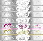 9ft SILVER & WHITE FOIL PARTY BANNER - ENGAGEMENT / WEDDING / ANNIVERSARY - NEW