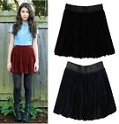 Hot Sell AA European and American literary retro gold velvet elastic wild skirts