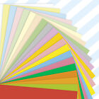 50 A4 Sheets Mixed Coloured Craft Printer Copier Paper 80gsm Stock Pack Plain