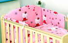 KITTY/BEAR PINK 2 pc NURSERY COT BED SET 120x90 pillowcase +quilt cover